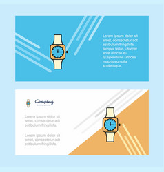 Watch abstract corporate business banner template vector