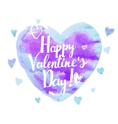 watercolor heart valentine day vector image