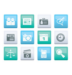 Web site computer and business icons vector