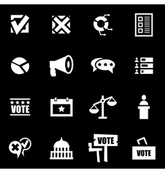 white election icon set vector image vector image