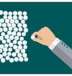 White medical pills vector