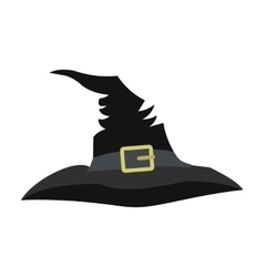 Witch hat icon vector