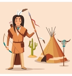 American or indigenous aboriginal indians with vector