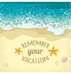 Background with sea sand beach and place for text vector image vector image