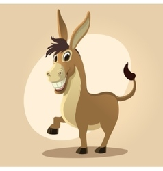 Donkey character in cartoon style vector image