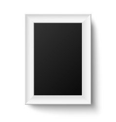 Vertical white A4 wooden frame vector image vector image