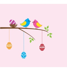 bird family easter vector image