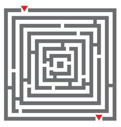 maze labyrinth vector image vector image
