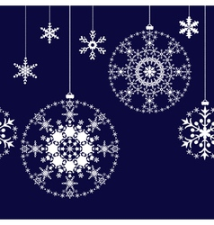 Seamless Christmas balls background vector image vector image