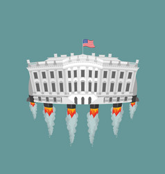 Whitehouse rocket turbine vector image vector image
