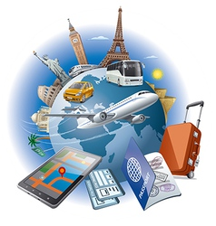 world journey vector image