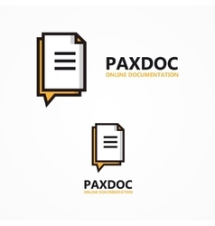 Document logo vector