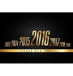 Golden New Year 2016 vector image
