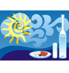greek summer vector image vector image
