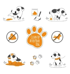 Clean up after your dog vector image