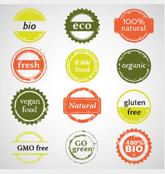 eco labels collection vector image vector image