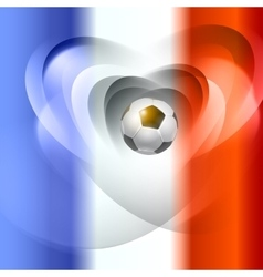 Football background with france flag colors vector image