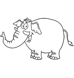Happy Elephant vector image vector image