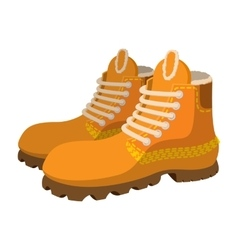 Hipster boots cartoon icon vector image