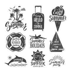 text logo for summer party hand drown letters and vector image vector image