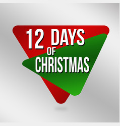 12 days of christmas label or sticker vector image