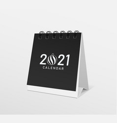 2021 calendar black paper template design vector