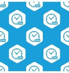 24h Workhours hexagon pattern vector