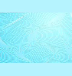 Abstract blue curved waves refraction vector