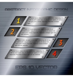 Abstract metal infographics options vector image