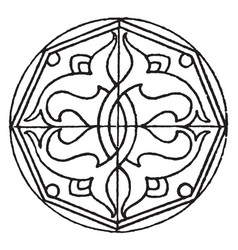 Arabian star-shape panel is a symmetrical design vector