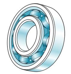 ball bearing design vector image