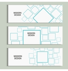 Banner square background Modern design vector