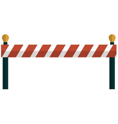 barrier road icon closed roadblock street vector image