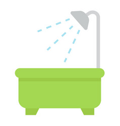 bath flat icon furniture and interior vector image