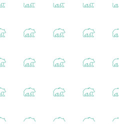 Bear icon pattern seamless white background vector