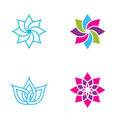 Beauty flower icon vector