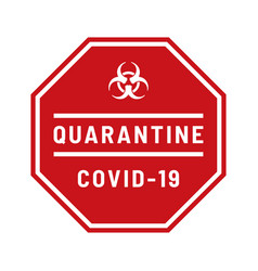biohazard sign on white background concept vector image