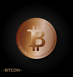 bitcoin gold symbol vector image
