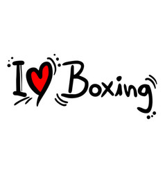 Boxing love vector
