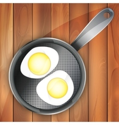 breakfast omeletteer icon two vector image