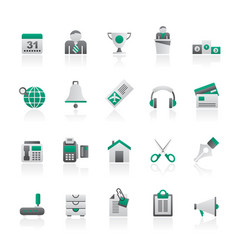 business and office equipment icons vector image
