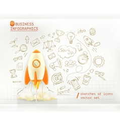 Business infographics start up set vector image