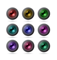 Camera Lens Icons vector image