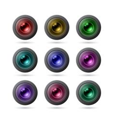 Camera Lens Icons vector
