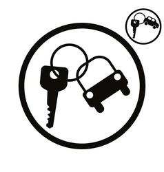 Car key simplistic icon vector image
