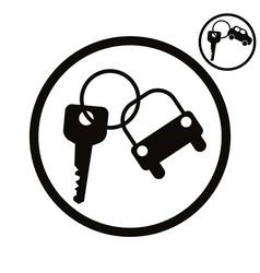 Car key simplistic icon vector