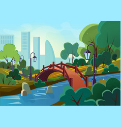 cartoon of a beautiful summer vector image