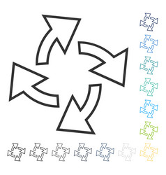 Centrifugal arrows icon vector