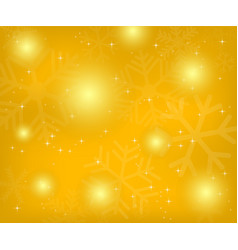 christmas gold background with snowflakes vector image