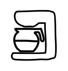 coffee machine isolated icon vector image